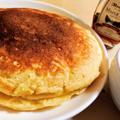 【おどろきのもちふわ食感!】豆腐とヨーグルトのパンケーキ【ホットケーキミックス使用】