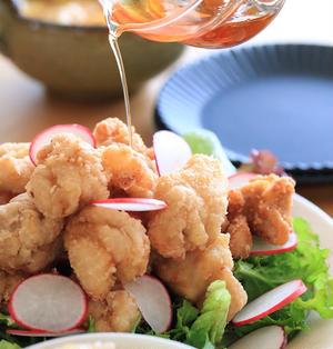 まろやかなお酢でタレも下味も♡中華風唐揚げサラダ