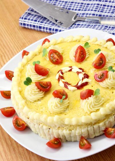 オムライスバーグケーキ♡