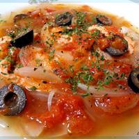 サーモンのアクアパッツア風トマト煮