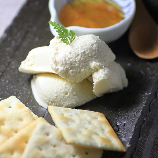 クリームチーズ豆腐のディップ☆柚子茶とご一緒に