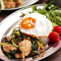 【レシピ】3COINSでついに買ってしまった!鶏むね肉と小松菜のオイマヨ炒めでカフェ風プレート♡#小松菜 #鶏肉 #鶏むね肉 #ワンプレート #カフェ風