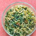 セロリの葉っぱの使い切り〜セロリの葉としらすのつくだ煮風。