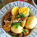 【連載】男子の胃袋掴みます♡ガッツリ系煮物♡『鶏肉と卵とコンニャクの甘辛こってり煮』