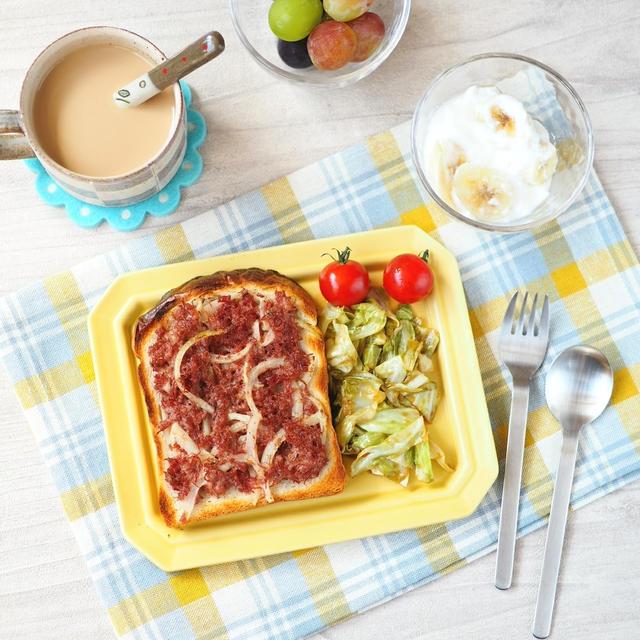 【まんが飯】コンビーフトーストとケンジ・オレ(きのう何食べた?)