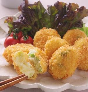 チーズ風味の枝豆コロッケのお弁当