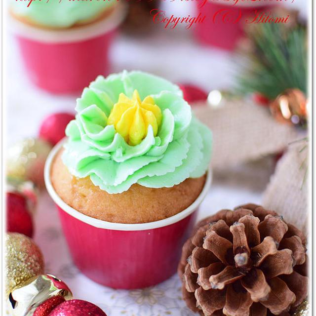 クリスマス☆カップケーキ ホイップ口金