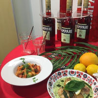 イタリアのビターなお酒カンパリに合うお食事を学んだ♪カンパリdeイタリアンナイト