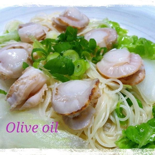 レシピ☆白菜とホタテのパスタ(カッペリーニ)