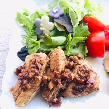 しっとり❤️鶏胸肉のシナモンオレンジチキン