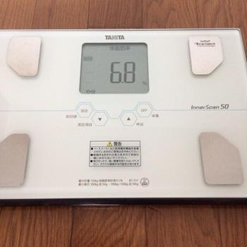6/20の体脂肪率