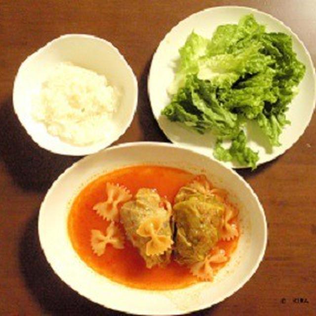 2013.10.31の晩御飯――ロールキャベツ