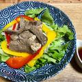 豆乳とこんにゃく麺の麺 牛肉のサラダ麺でヘルシー