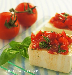 塩麹トマトの冷奴