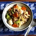 【簡単!!フライパン1つ】豚こまとキャベツで中華丼(オイスターソース不要)