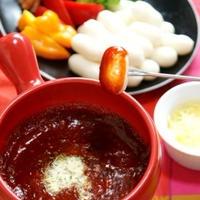 「チーズ&チーズトッポギ」で簡単!「韓流トッポギフォンデュ鍋」♪