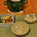 晩ごはん de ストウブ 豚バラ肉とキャベツの蒸し煮とバウム部活動