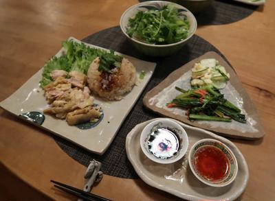 海南鶏飯 &フォー~エスニックご飯 と 中秋の名月とススキ♪