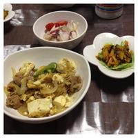 カレーおかか風味の肉豆腐