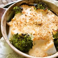 お豆腐明太ソースで野菜グラタン