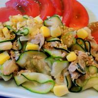 群馬県産ズッキーニを生で簡単に美味しく☆ズッキーニとツナのサラダ
