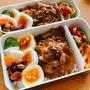 [朝ごはんとお弁当]豚焼き肉弁当と青魚のほぐし身茶漬け風/タンドリー鮭弁当とTKG