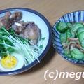 ミツカン味ぽんで鶏のさっぱり煮&きゅうりと穴子の酢の物