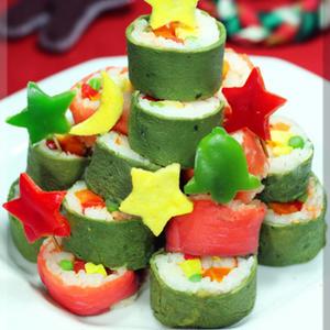 パーティーで盛り上がる!見た目も楽しい「クリスマス寿司」5選