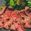 滑らかな牛肉のカルパッチョ