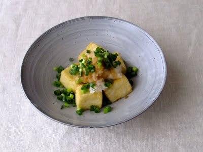 サイコロ豆腐のおろしポン酢がけ