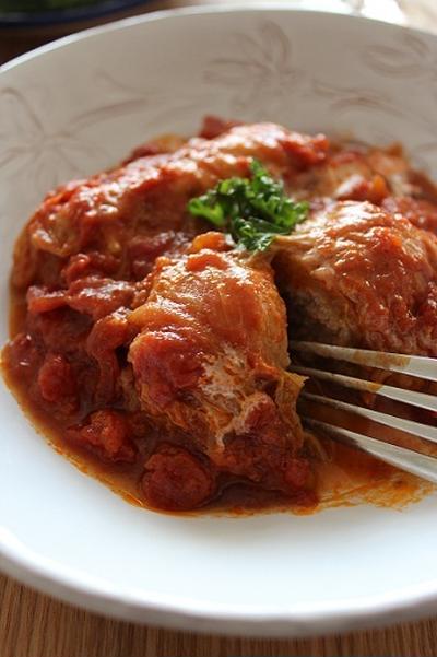 ロール白菜のトマト煮込み