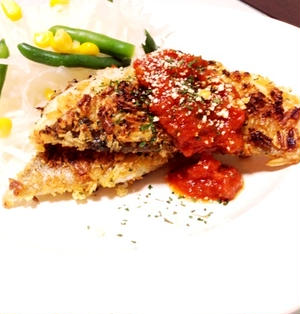 鱈の香草ポテチ焼き