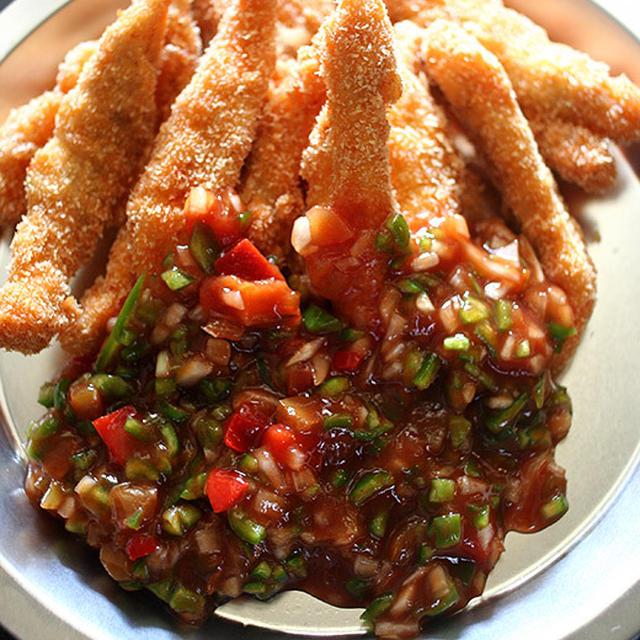 Fried Chicken with Salsa
