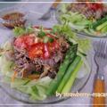**自家製中華ダレで**野菜を食べる牛こま冷しゃぶサラダ by strawberry-macaronさん