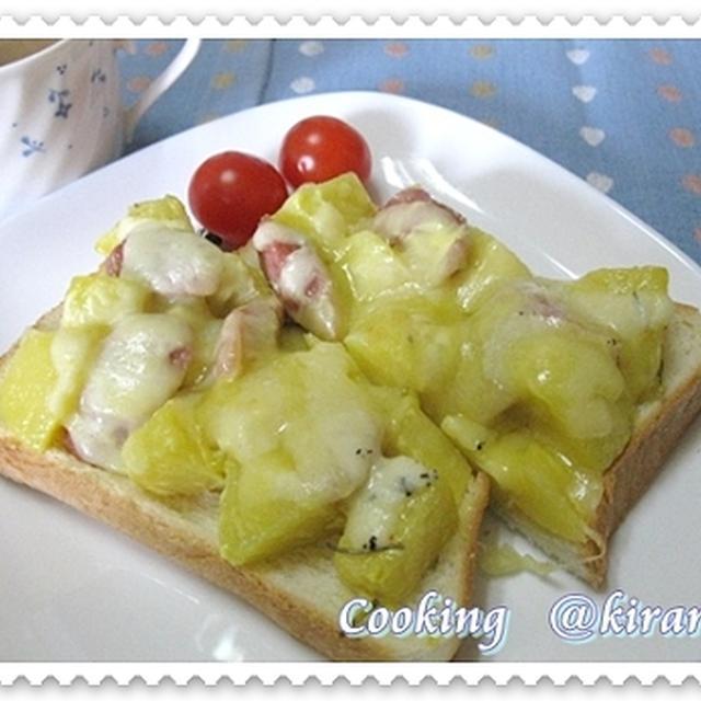 ◆2.17 ローズマリー香る「ジャガウインナーチーズトースト」♪楽天ブログまた不具合?!