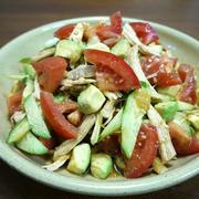 【簡単レシピ】鶏むね肉のアボカドとトマトの中華サラダ♪