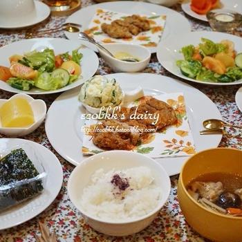 """【和食】とんかつ/Deep-Fried Pork Cutlet, """"Tonkatsu"""""""