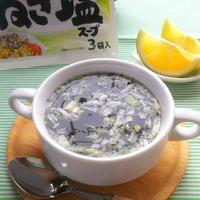 かぼすをプラス☆かぼすわかめスープ