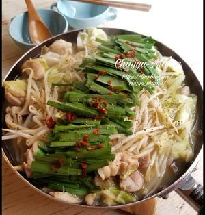 【フライパンDE】塩もつ鍋風♡鶏鍋