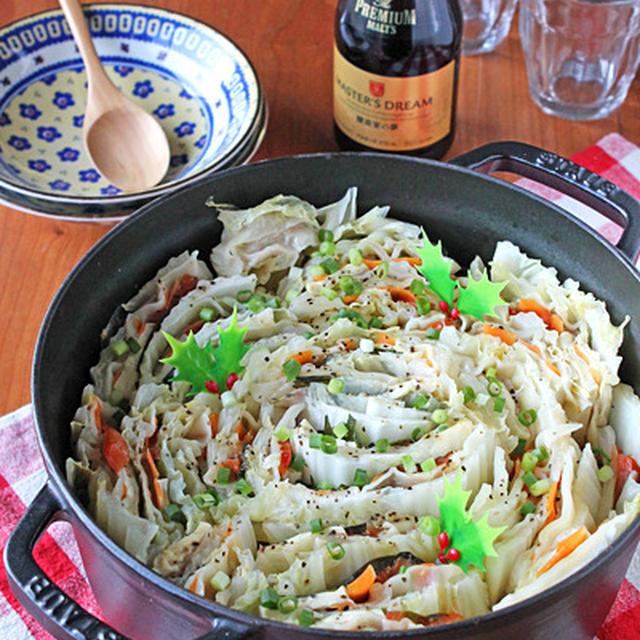 白菜と豚肉の餃子ミルフィーユ鍋★豆腐とトマト入り!クリスマスにも・・