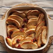 アップルクランベリーのオーブン焼きフレンチトースト