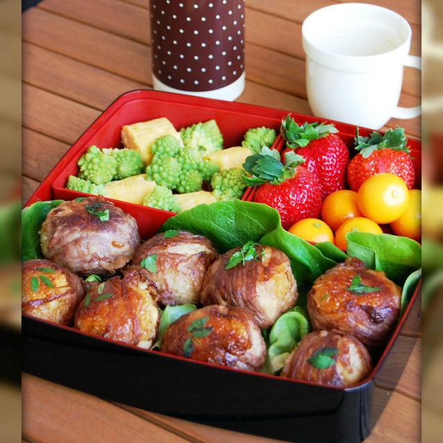 タケノコの肉巻きおにぎり【レシピ】で♪お弁当♪