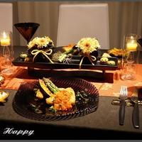 花と料理で楽しむ♪Happy Halloween!~メカジキのソテー・オニオントマトソース~