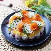 ひな祭りに作ろう!豪華見え「お花のちらし寿司ケーキ」