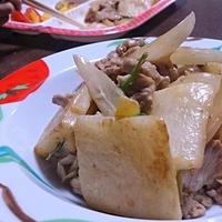 長芋と豚肉のとんかつマヨ炒め♪ #とんかつソース #イカリソース #ソース