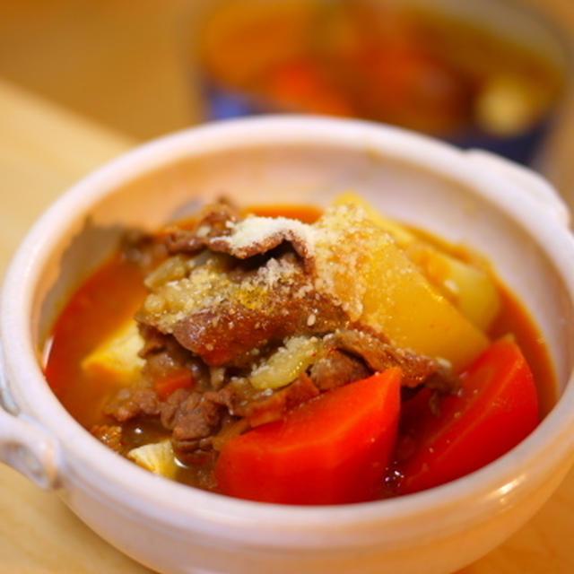 ゴロゴロ野菜のシチュー風鍋