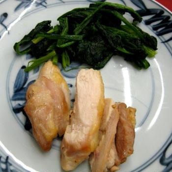 皮なし鶏肉のマヨ塩焼き