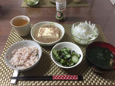 トロトロあんかけ豆腐で晩ごはん!