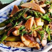 アスパラと椎茸のアジアン炒め