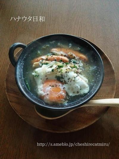 卵落としスープ